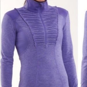 Purple lululemon quarter zip
